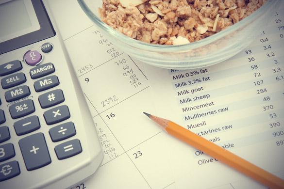 Calcular calorías de los alimentos es insostenible