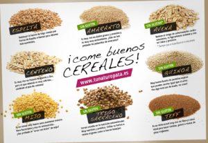 Cereales buenos, infografía de TuNaturopata.es